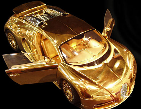 Diamond encrusted bugatti veyron